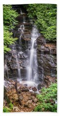 Beach Towel featuring the photograph Socco Falls by Stephen Stookey