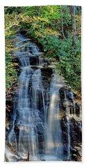Soco Falls In Fall Beach Towel