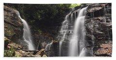 Soco Falls-landscape Version Beach Towel