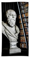 Socrates A Writer Of Knowledge Beach Towel by Lexa Harpell