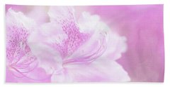 Soft And Lovely Pink Rhododendrons  Beach Sheet