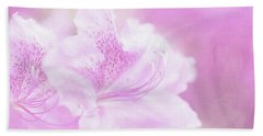 Soft And Lovely Pink Rhododendrons  Beach Towel