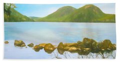 Soft Art Photograph Jordan Pond Acadia Nat. Park Maine Beach Towel