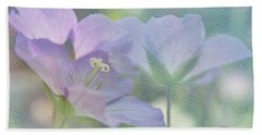 Beach Towel featuring the photograph Soft Blue by Ann Lauwers