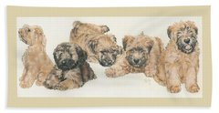 Soft-coated Wheaten Terrier Puppies Beach Towel