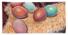 Soft Eggs Beach Towel