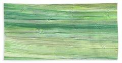 Soft Green Organic Abstafor Interior Decor Viii Beach Towel