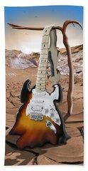 Soft Guitar 4 Beach Towel by Mike McGlothlen
