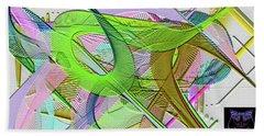 Beach Towel featuring the digital art Soft Light by Visual Artist Frank Bonilla