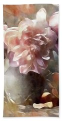 Soft Pastel Peonies Beach Towel