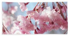 Soft Pink Blossoms Beach Towel by Trina Ansel