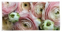 Soft Pink Ranunculus  Beach Towel