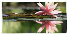 Soft Pink Water Lily Beach Sheet