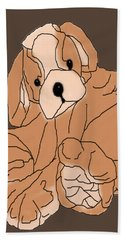 Beach Sheet featuring the digital art Soft Puppy by Jayvon Thomas