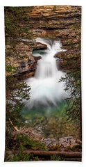 Beach Towel featuring the photograph Soft Smooth Waterfall by Darcy Michaelchuk
