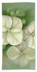 Soft Summer Hydrangea Blossoms Beach Sheet