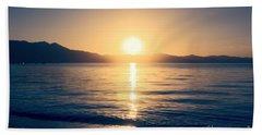 Soft Sunset Lake Beach Towel