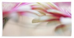 Beach Towel featuring the photograph Soft Touch. Macro Gerbera by Jenny Rainbow