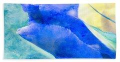Softly Iris Beach Towel