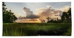 Softly The Evening Came With The Sunset Beach Towel