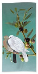 Sojourn Of The Dove Beach Towel