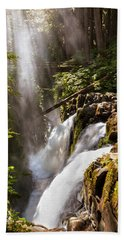 Beach Towel featuring the photograph Sol Duc Falls by Adam Romanowicz