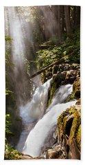 Beach Sheet featuring the photograph Sol Duc Falls by Adam Romanowicz