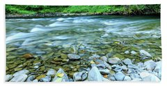 Sol Duc River In Summer Beach Towel