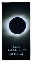 Solar Eclipse Aruba 1998 Beach Towel