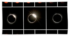 Solar Eclipse Composite Beach Towel