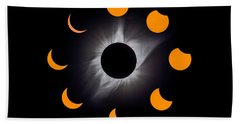 Solar Eclipse Stages Beach Sheet
