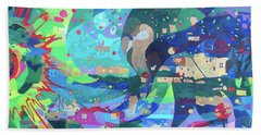 Beach Towel featuring the painting Solar Wind by Denise Weaver Ross