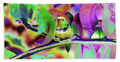 Beach Towel featuring the photograph Solarized Hummer by Wendy McKennon