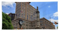 Soldiers Monument In Penn Square In Lancaster Pa Beach Towel