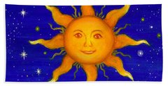 Beach Towel featuring the painting Soleil by Sandra Estes
