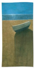 Solitary Boat Beach Towel