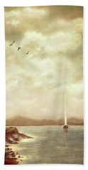 Solitary Sailor Beach Towel
