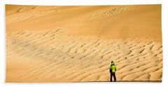 Solitude In The Dunes Beach Towel