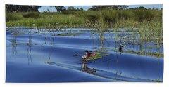 Solitude In The Okavango Beach Sheet