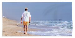 Beach Towel featuring the photograph Solitude by Keith Armstrong