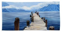 Crooked Dock  Beach Towel