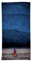 Beach Towel featuring the photograph Solitude On Priest Lake by David Patterson