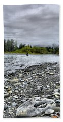 Solitude On The River Beach Towel