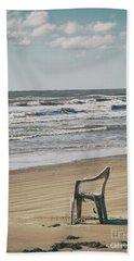 Solo On The Beach Beach Towel
