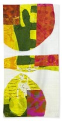 Beach Towel featuring the mixed media Solstice by Elena Nosyreva