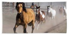 Sombrero Ranch Horse Drive At The Corrals Beach Sheet