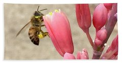 Something To Buzz About Beach Towel by Russell Keating