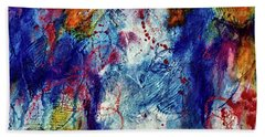 Beach Towel featuring the painting Something Wild by Tracy Bonin