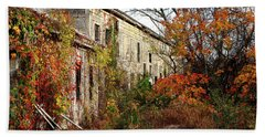 Beach Towel featuring the photograph Somewhere In Rhode Island - Abandoned Mill 001 by Lon Casler Bixby