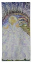 Beach Towel featuring the painting Somewhere In Time by Lyric Lucas
